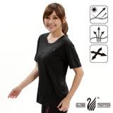 【遊遍天下】MIT台灣製中性款圓領吸濕排汗機能衫S107黑色