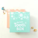 韓國Mellow乳牙保存盒-粉藍泡泡