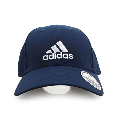 ADIDAS 運動帽-愛迪達 帽子 防曬 壓舌帽 遮陽 慢跑 丈青白 F
