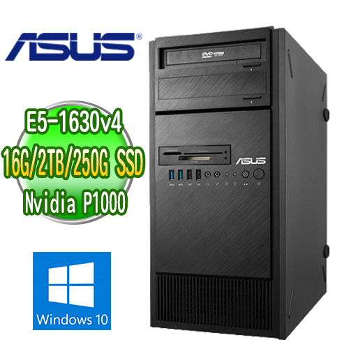 ASUS 華碩 WS860T 高階繪圖工作站 ( E5-1630v4 16G M.2 250GB SSD+2TB  Quadro P1000繪圖卡 WIN10專業版)