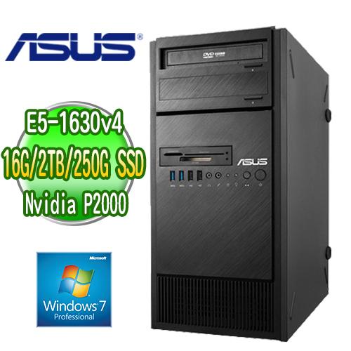 ASUS 華碩 WS860T 高階繪圖工作站 ( E5-1630v4 16G 250GB SSD+2TB  Quadro P2000繪圖卡 WIN7專業版)