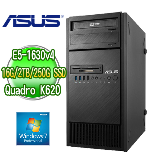 ASUS 華碩 WS860T 高階繪圖工作站 ( E5-1630v4 16G M.2 250GB SSD+2TB  K620 2GB繪圖卡 WIN7專業版)