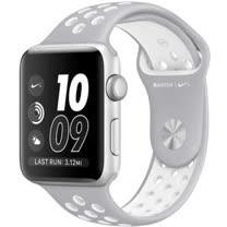 Apple Watch Series 2 智慧型手錶 (42mm) /A 42公釐 銀色鋁金屬錶殼搭霧銀色配螢光白色 Nike 運動型錶帶 (MNNT2TA/A)