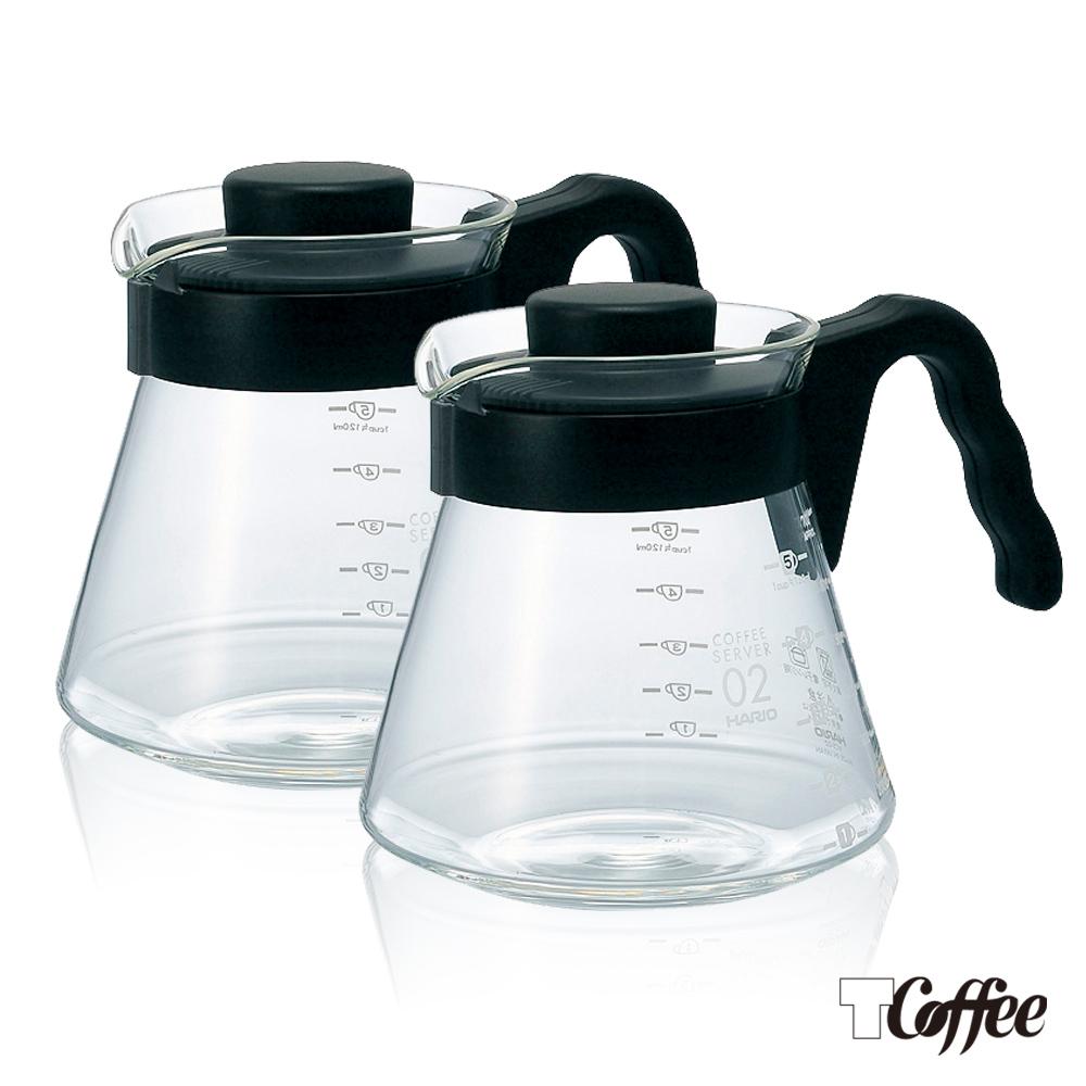 ~TCoffee~HARIO~V60好握02耐熱黑色咖啡壺 2入組