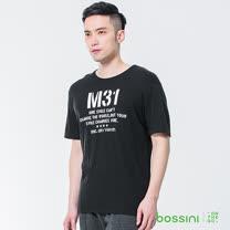 bossini男裝-圓領短袖上衣03黑