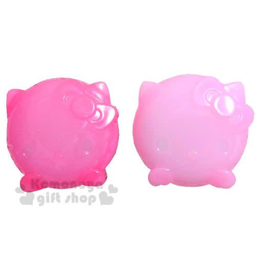 〔小禮堂〕Hello Kitty 乳液盒~2入組.透明.粉桃紅.大臉~附 勺子