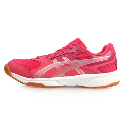 (女) ASICS UPCOURT 2 排羽球鞋-排球 羽球 亞瑟士 桃紅銀