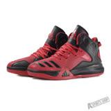 adidas 男 DT BBALL MID 愛迪達 籃球鞋 黑/紅 -AQ7755