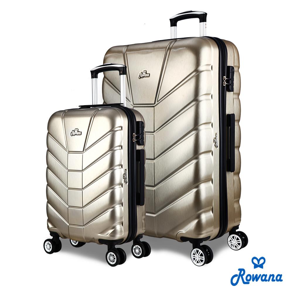 Rowana 星際騎士20+29吋PC防爆拉鍊旅行箱/行李箱 (爵士金)