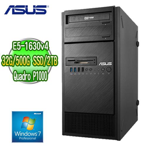 ASUS 華碩 WS860T 高階繪圖工作站 ( E5-1630v4 32G M.2 500GB SSD+2TB  Quadro P1000繪圖卡 WIN7專業版)