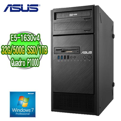 ASUS 華碩 WS860T 高階繪圖工作站 ( E5-1630v4 32G M.2 500GB SSD+1TB  Quadro P1000繪圖卡 WIN7專業版)
