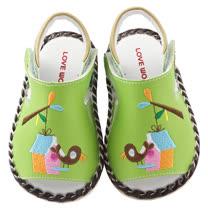 【愛的世界】LOVEWORLD 鳥屋寶寶鞋/涼鞋/13~15CM-台灣製-