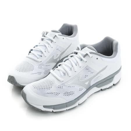 MIZUNO 男鞋 慢跑鞋 白SYNCHRO 男慢跑鞋-J1GE171904
