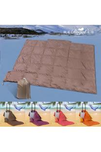 【皇室羽毛工房】輕量型防潑水旅行用羽絨被 - 小