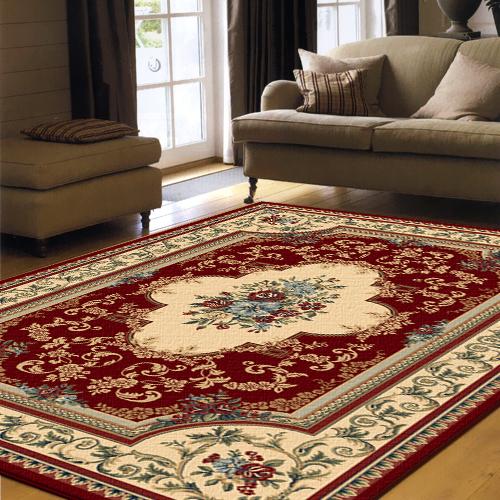 【范登伯格】克拉瑪★高密度皇室風地毯-瓶花(紅)170x230cm