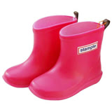 日本stample兒童雨鞋-蜜桃紅