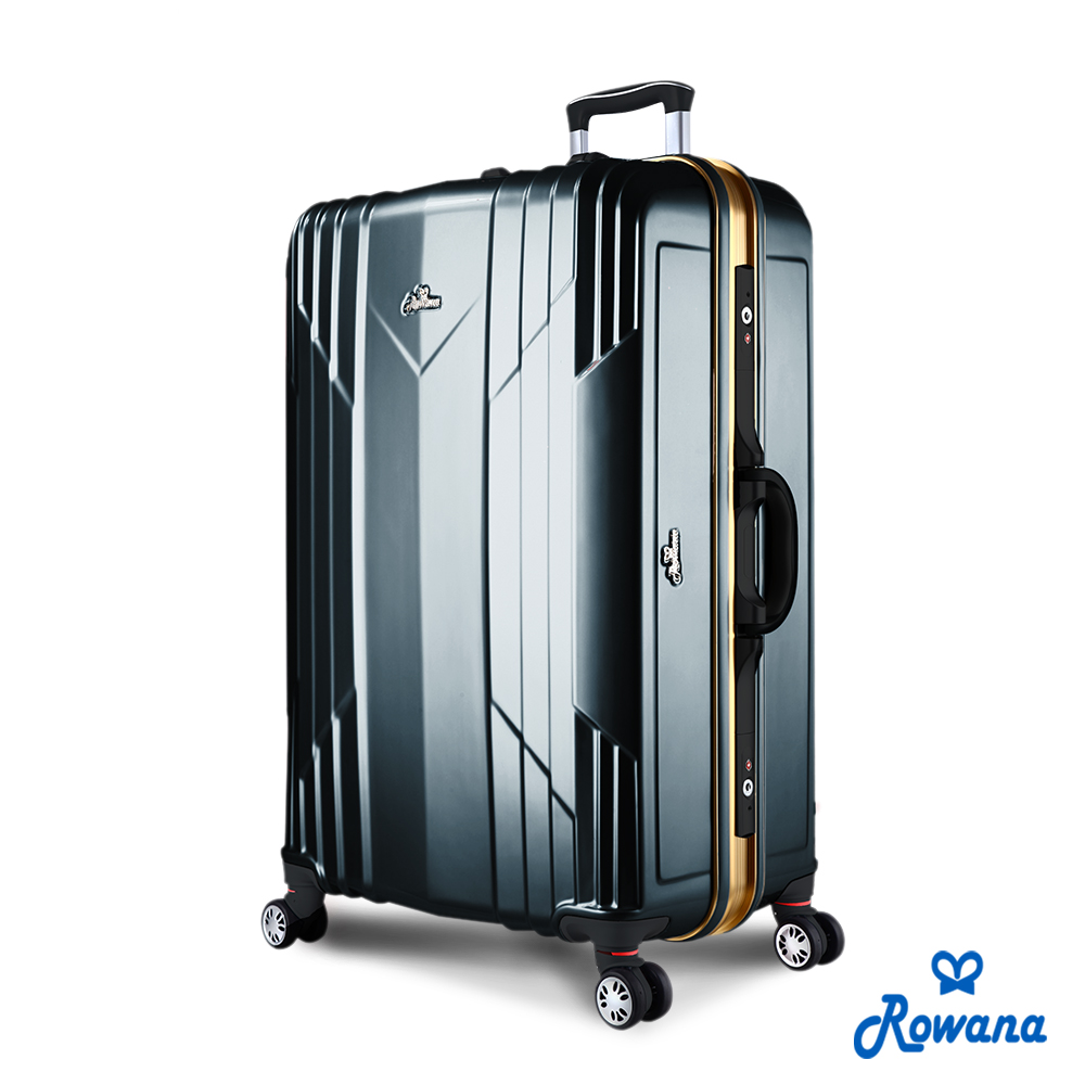 Rowana 極光閃耀29吋PC鋁框旅行箱/行李箱 (工鐵黑)
