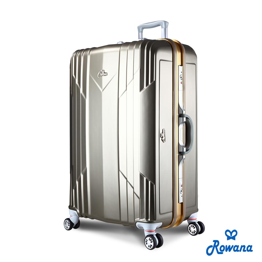 Rowana 極光閃耀29吋PC鋁框旅行箱/行李箱 (閃耀金)