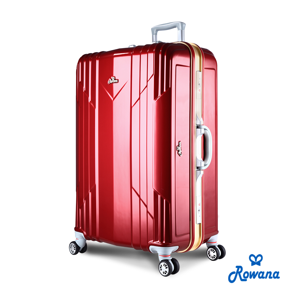 Rowana 極光閃耀29吋PC鋁框旅行箱/行李箱 (高雅紅)