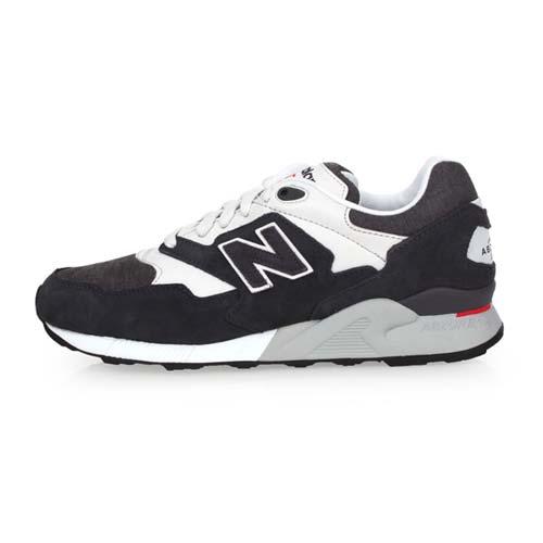 (男) NEWBALANCE 878系列 復古休閒鞋-D-寬楦 NB N字鞋 黑白