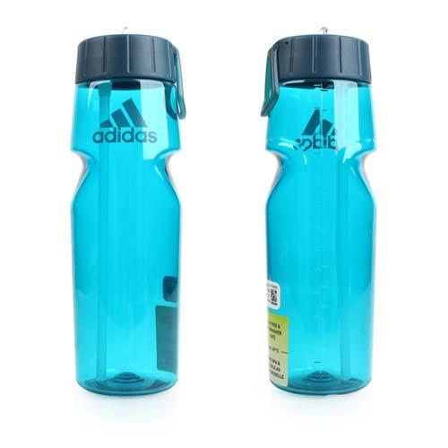 ADIDAS 運動水壺-750ML-單車 自行車 慢跑 路跑 透明湖水藍 F