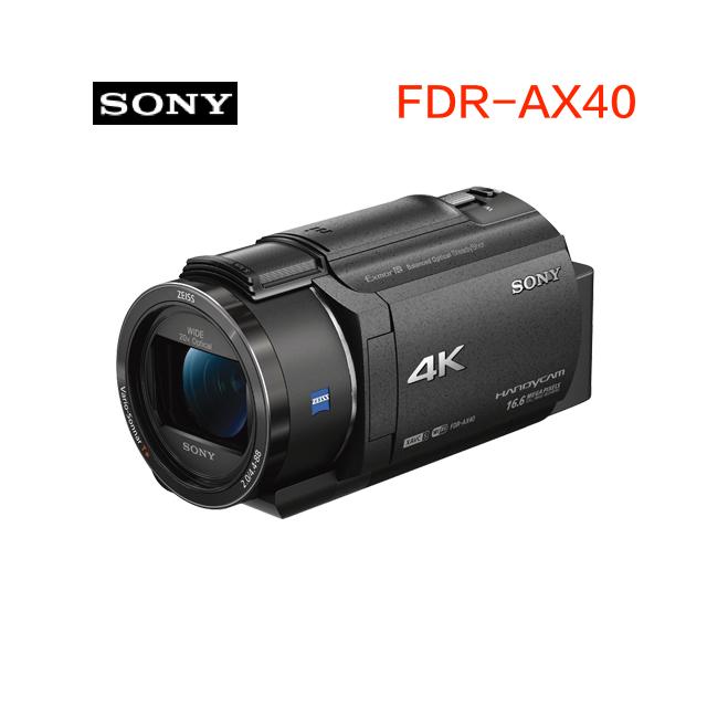 SONY FDR-AX40 4K攝影機 公司貨 送64G+吹球清潔組+專用座充+專用電池FV100+攝影包