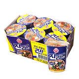 韓國不倒翁金拉麵原味杯麵65g*6杯/盒