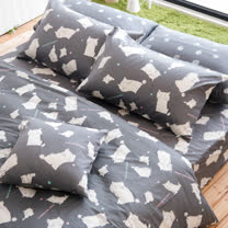 OLIVIA 《 湯姆貓 灰 》 加大雙人床包被套四件組 童趣系列