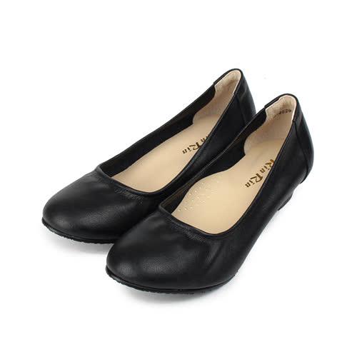 (女) RIN RIN 牛皮素面低跟鞋 黑 女鞋 鞋全家福