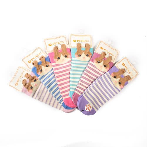 (童) 貝柔 趣味兒童止滑童襪 15-18cm 小兔子 隨機出貨 鞋全家福