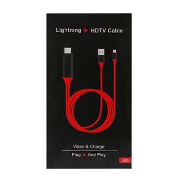 Apple Lightning To HDMI 數位影音轉接線 HDTV Cable (2M)