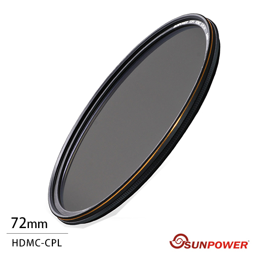 SUNPOWER TOP1 CPL 72mm 環型偏光鏡(72,湧蓮公司貨)送超細纖維拭鏡布+拭鏡紙~
