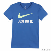 NIKE 女 AS W NSW TEE CREW JDI SWSH HBR 圓領T(短)- 889404494