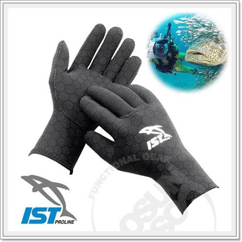 ~ IST~全彈性潛水手套 2.5mm  蜂巢狀橡膠止滑點布.保暖防寒手套.防割傷.潛水.