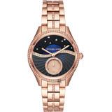 Michael Kors 銀河星空小秒針手錶-藍x玫塊金/38mm MK3723