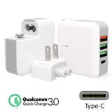 【超值2入組】QC3.0快充+Type-C 4孔輸出USB充電器