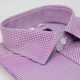 【金安德森】小圖紫色窄版短袖襯衫