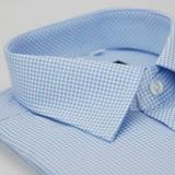 【金安德森】小圖藍色窄版短袖襯衫(品特)