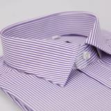【金安德森】紫色條紋窄版短袖襯衫(品特)