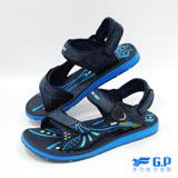 【G.P 男款時尚休閒兩用涼鞋】G7684M-20 藍色 (SIZE:40-44 共三色)