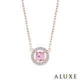 A-LUXE 亞立詩 Shine系列 10K粉紅碧璽鑽石項鍊