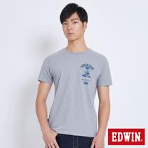 EDWIN 冒險旅行油燈短袖T恤-男-麻灰色