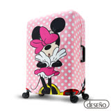 Disney 迪士尼Minnie彈性箱套-粉嫩泡泡(M)