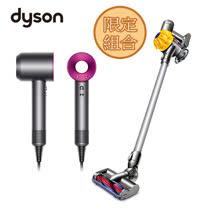 Dyson Supersonic 吹風機 HD01+無線手持式吸塵器 V6 SV03組合
