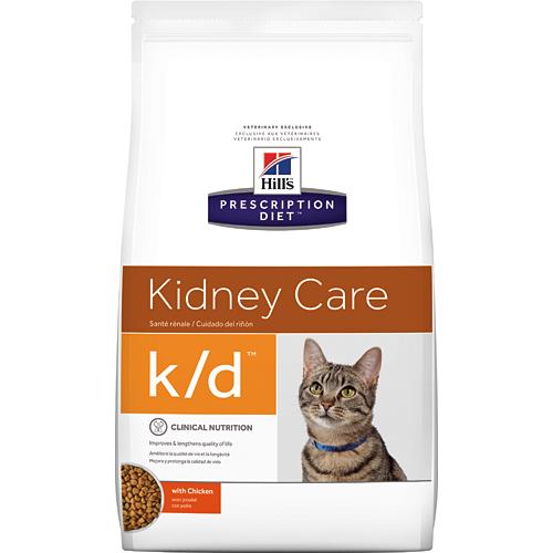 希爾思 Hills 貓用k/d 腎臟病護理處方貓飼料 8.5磅 寵物飼料 健康管理 1入裝