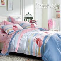 《KOSNEY 小白圆舞曲》雙人100%天絲TENCEL六件式兩用被床罩組