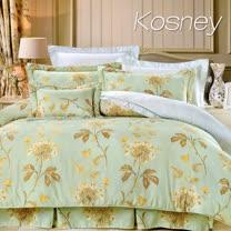 《KOSNEY 安琪拉》雙人100%天絲TENCEL六件式兩用被床罩組