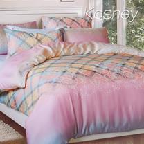 《KOSNEY 優雅格情》雙人100%天絲TENCEL六件式兩用被床罩組