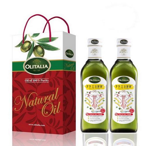 Olitalia奧利塔高溫專用葵花油禮盒組500mlx2瓶