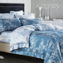 《KOSNEY 雙色羅曼史》雙人100%天絲TENCEL六件式兩用被床罩組